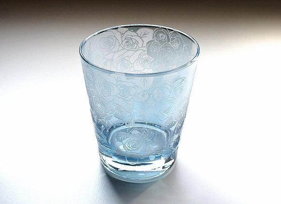 【B品】可憐薔薇の夢想グラス(ブルー)