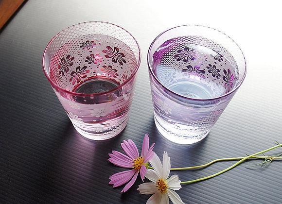 秋華彩コスモスのグラス