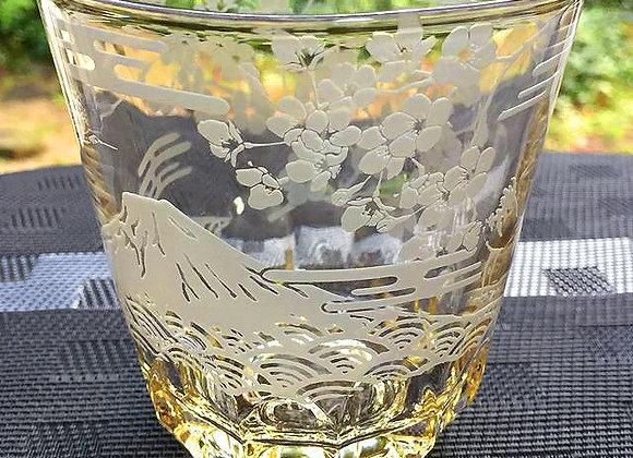 富士さくら琥珀グラス