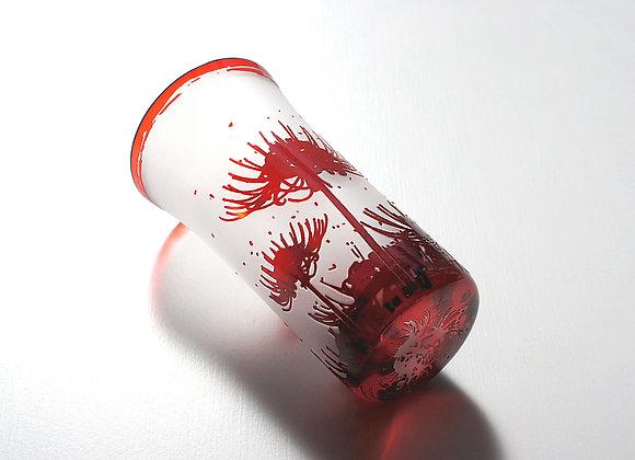 【試作品】曼珠沙華一口グラス(赤)