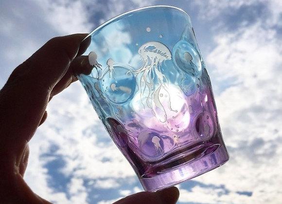 ゆらり舞うクラゲの彩グラス(凛舞彩海月)