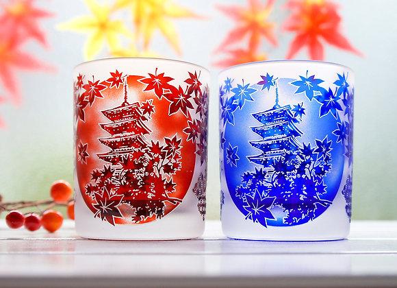 錦秋香るグラス