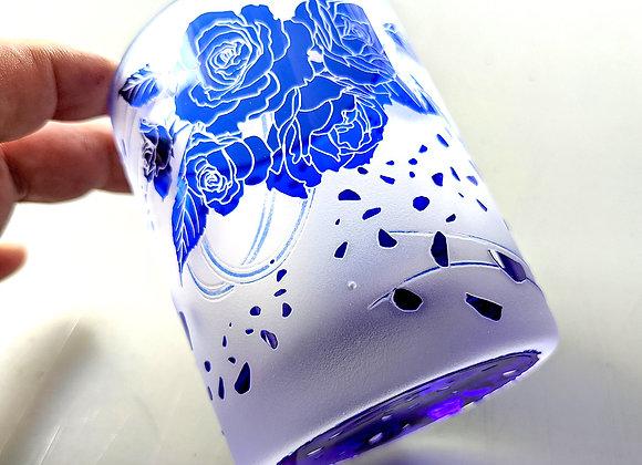 【B品】蒼い薔薇グラス