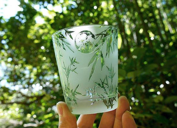 名残の月・笹竹グラス