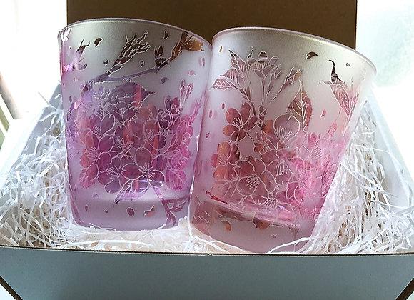 桜便り-淡紫紅桜ペア