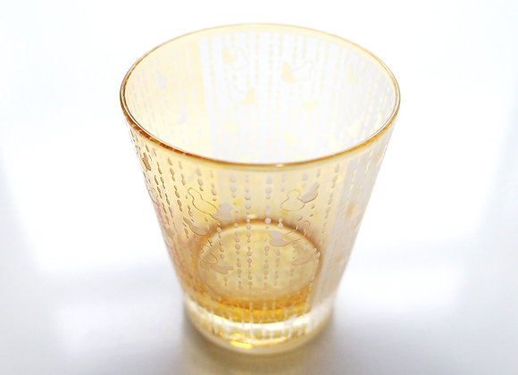 【B品】幸せ運ぶ瓢箪グラス(琥珀)