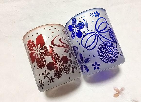 和の彩りグラス