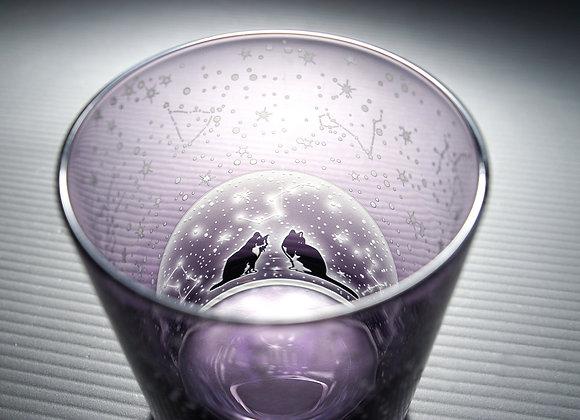 【B品】二藍の恋月星座グラス