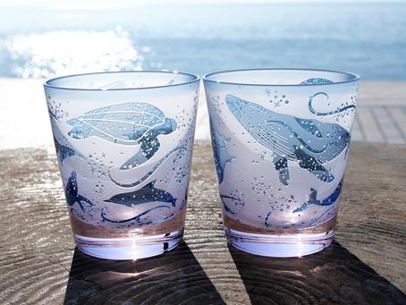 クジラ達、海の仲間グラス販売開始