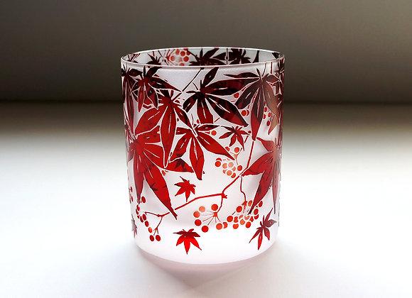 【B品】楓ノバラの実グラス