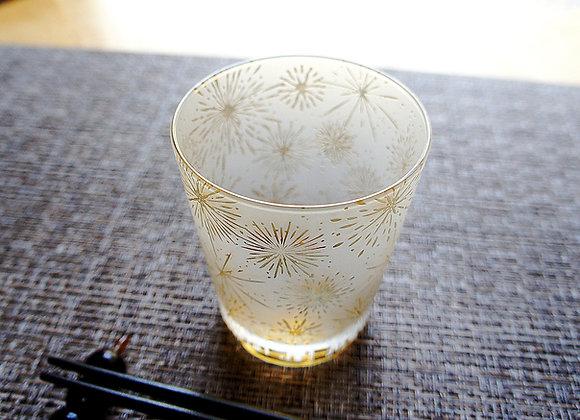 琥珀華火の街グラス
