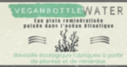 veganbottle water plant compostable raw