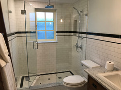 Traditional White and Black Bathroom