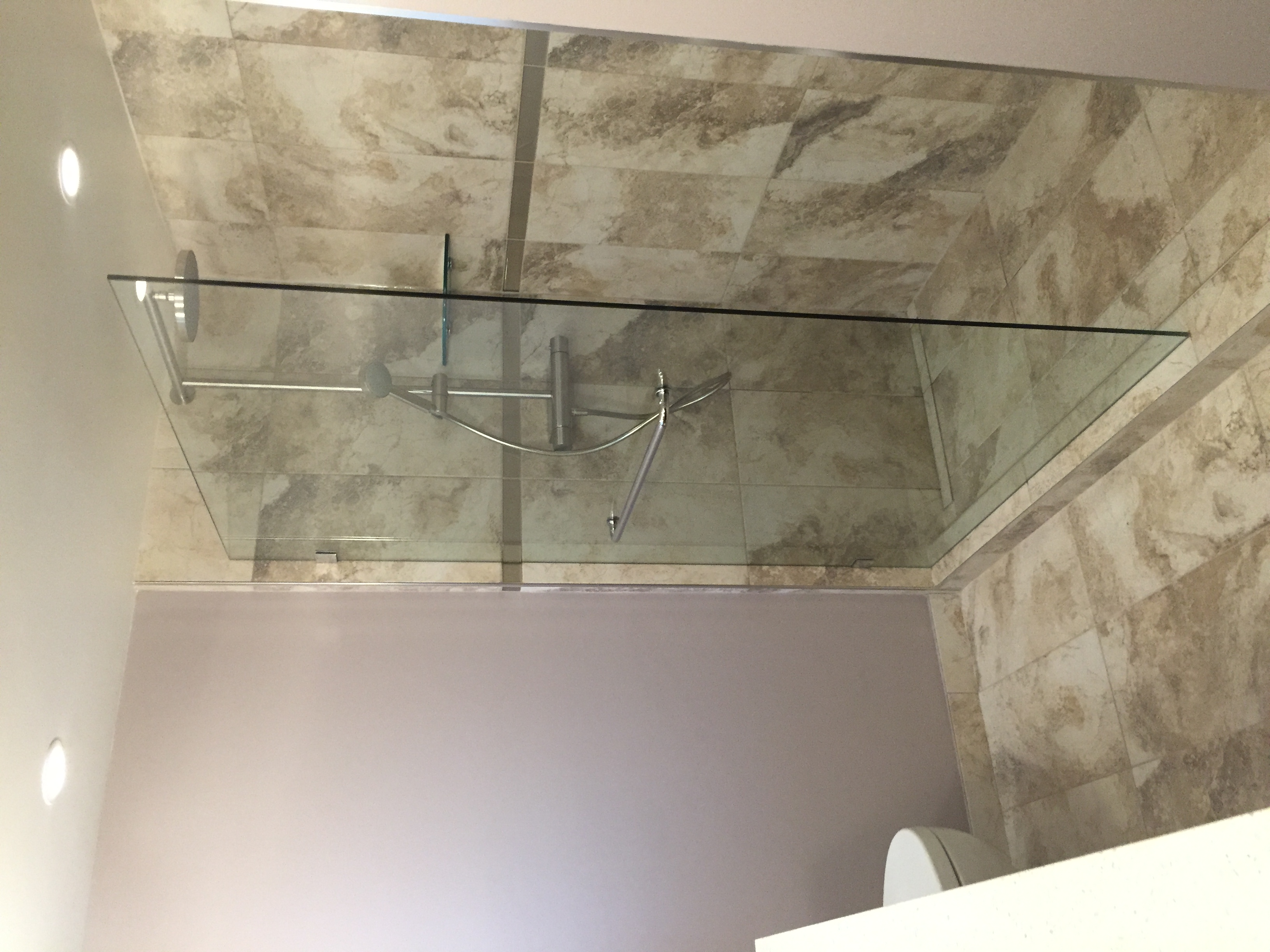 Walk in shower - Frameless Glass Partition