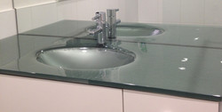 Custom Glass Sink and Countertop