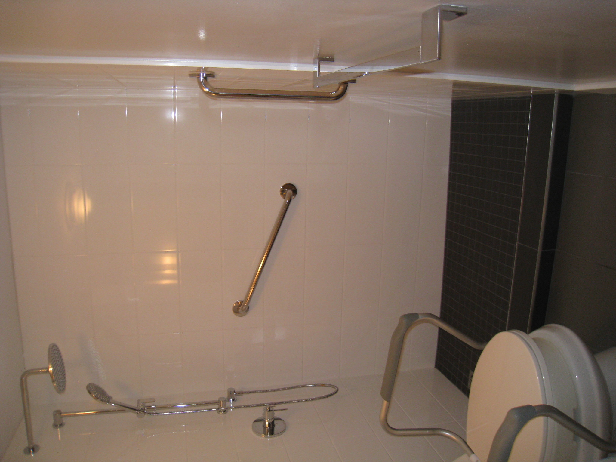 Converted bathtub to walk-in shower