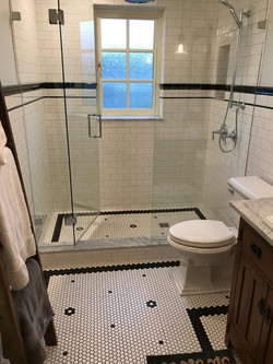 Traditional Bathroom Hexagon Mosaic