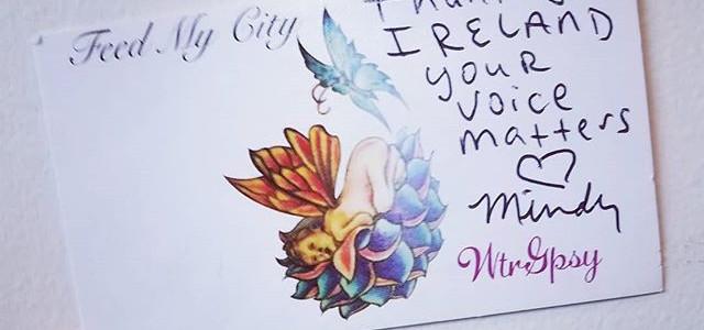 #thankyouireland #ireland🇮🇪 #yourvoicematters #FeedMyCityireland_#MindyDougherty #MindysFight _#followme #joinmenow #hungerseesnocolor #viki