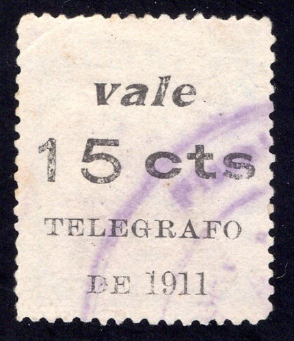 H152, 1911Nicaragua 2nd class Railway,surcharged for revenue purposes