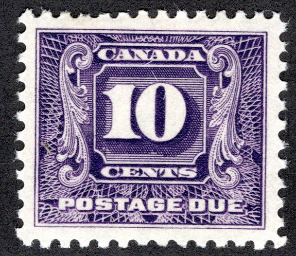 J10, Scott, 10c, VF, 2nd issue, MLHOG, Canada Postage Due