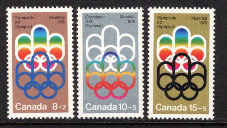 "B1-B3, Canada, ""COJO"" Symbol, MNHOG, 1974, GT2, Semi-Postal Stamps"