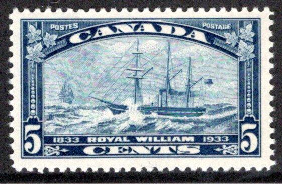 204, 5c Royal William, MNHOG, VF/XF, 1933, Canada Postage Stamp