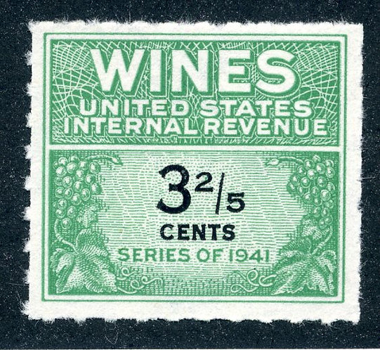 Scott RE183 - 3⅖ cents - 1942-49 Wines - MNH - No Gum As Issued