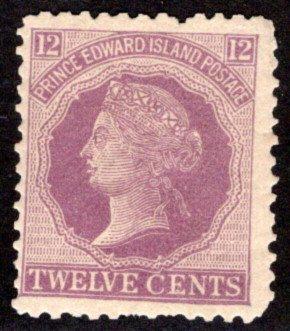 Scott 16, PEI, Prince Edward Island, Canada, VG/F, p.12.5x12.25, MNHOG, QV, 1872