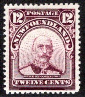 105, NSSC,Newfoundland, 12c, Duke of Connaught, MLHOG, VF/XF, Scott 113