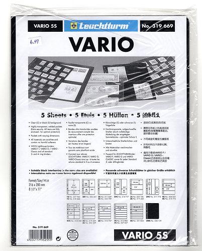 VARIO 5S Stamp Sheets (5 divisions) BLACK
