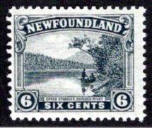 128, NSSC, Newfoundland, 6¢ Upper Steadies Humber River, F, MLHOG, slate