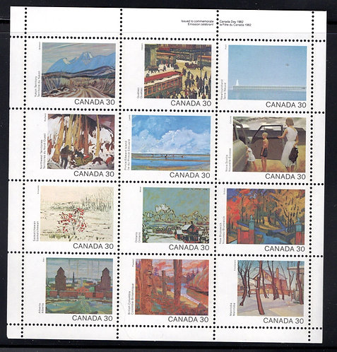 966a Scott - Souvenir Sheet, 1982 Canada Day, #955-966, Canada Postage Stamps