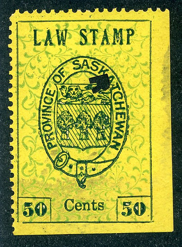 van Dam SL5 - Used- 50c- plate position 25 - 1907 Coat of Arms - First Printin