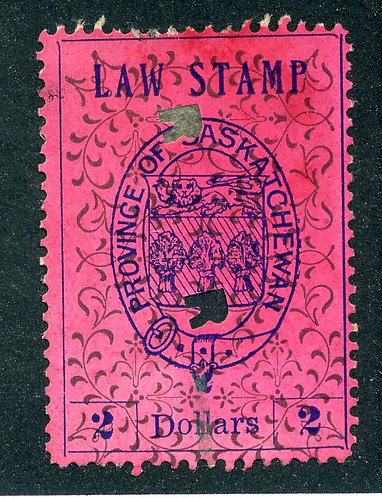 van Dam SL19 - Used- $2 - plate position 13 - 1907 Coat of Arms - Second Printi