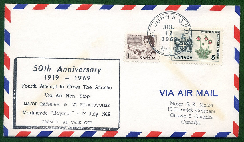 Fourth Flight Attempt to cross Atlantic - 50th Anniversary