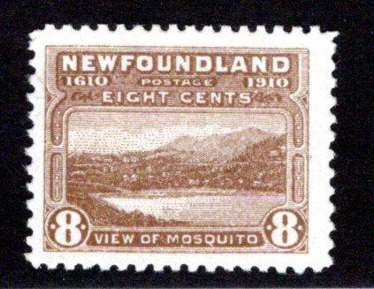 85, NSSC, Newfoundland, 8¢ Mosquito, VG/F, MLHOG, Newfoundland