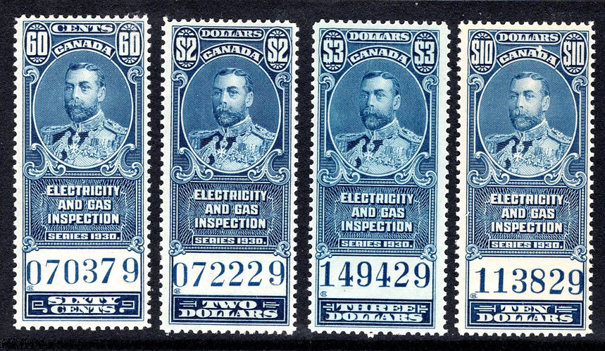 van Dam FEG8-11, blue, complete set, MNHOG, VF, Federal Electricity and Gas In