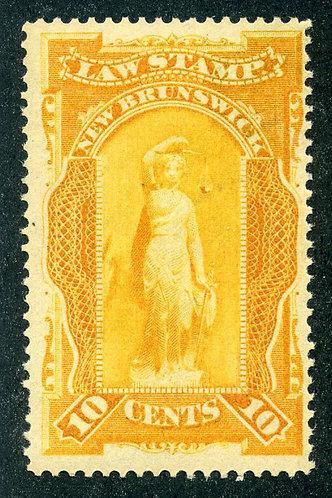 van Dam NBL5 - CARIS: NBL 5 - MNHOG - 10¢ New Brunswick Law - orange