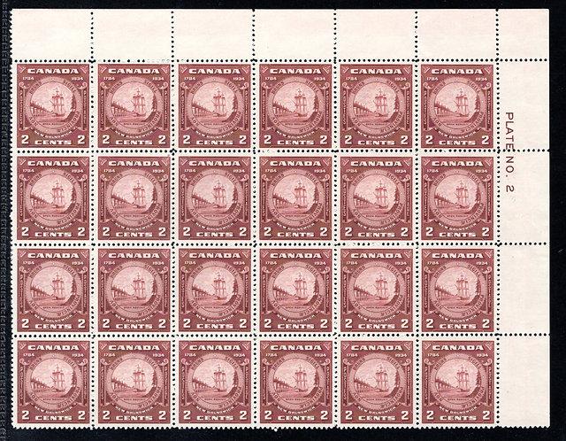 210 Scott, 2c, Canada, MNHOG, F/VF, UR block or 24, contains (5) 210i