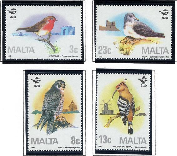 690-693 Malta, Birds Stamp Set, 1987, MNHOG