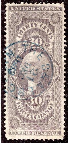 Scott R51c, 30c Foreign Exchange, VF, Handstamped
