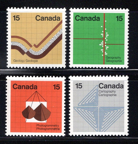 582p-585p, Scott, Canada, Earth Sciences Set, tagged GT2,MNHOG, postage stamps