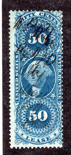 R57c - 50c - Lease - Perf - blue - used - ms cancel