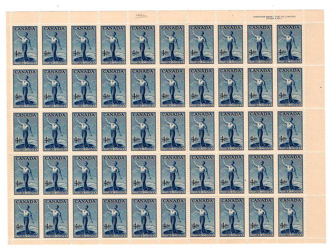 275, Scott, 4c, Canada, Canadian Citizenship, Full Sheet of 50, VF, Postage Stam