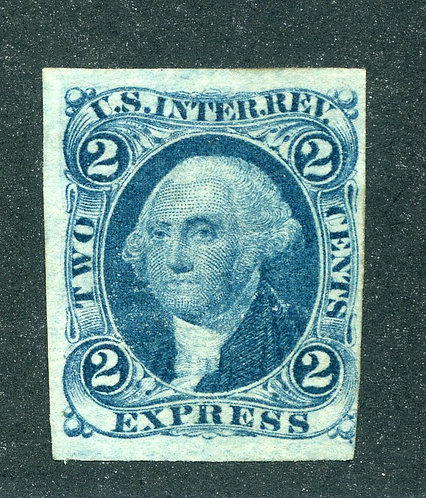 R9a - 2c - Express Revenue - Blue - imperf - unused