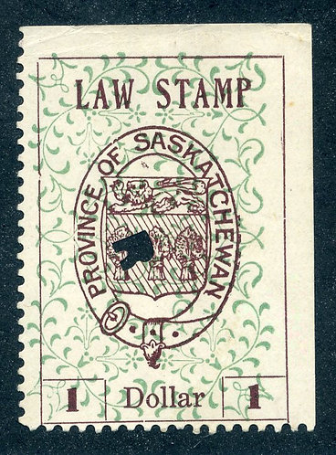 van Dam SL18a - Used - $1 - plate position 5 - 1907 Coat of Arms - Second Print