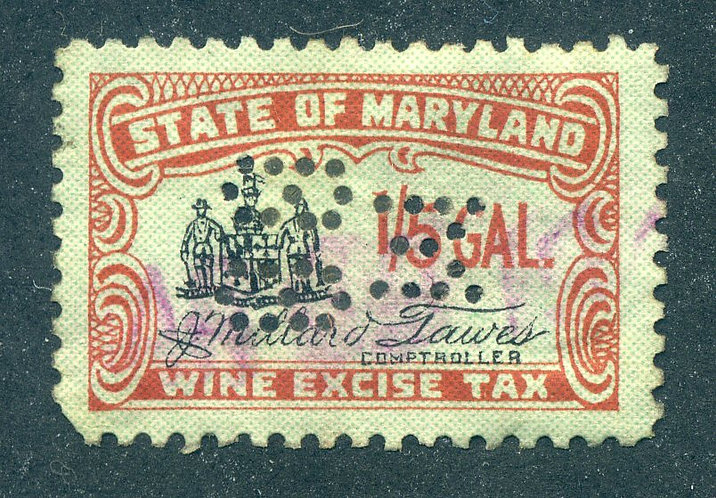 SRS MD W26 - Maryland - Wine - 1/5 gallon - Used - Perfin