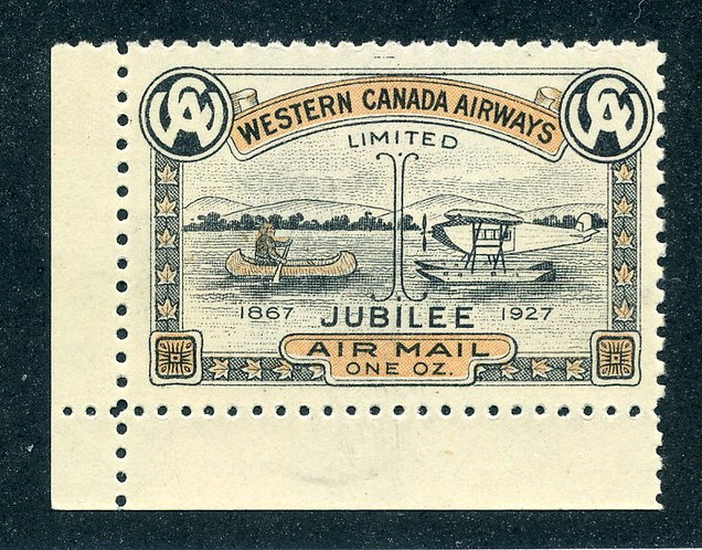 CL41- Western Canada Airways Jubilee Issue - MNHOG - corner copy