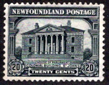 149, NSSC, Newfoundland, 20c, F/VF, grey black, Colonial Building, Used