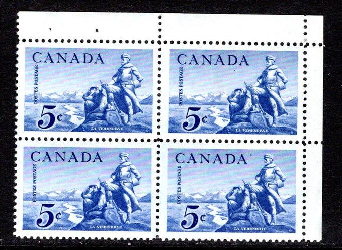 378Scott, Canada,PB, UR, MNH, La Verendrye Statue, Postage Stamps